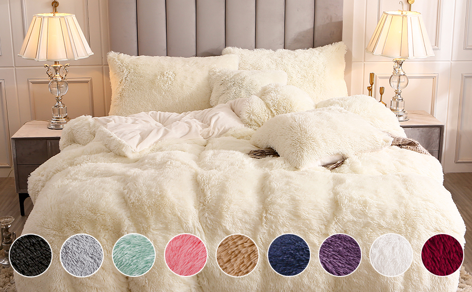 Luxuries WAFFLE STRIPE Pleated Duvet Cover+PillowCase Warm Cozy Bed Set All Size