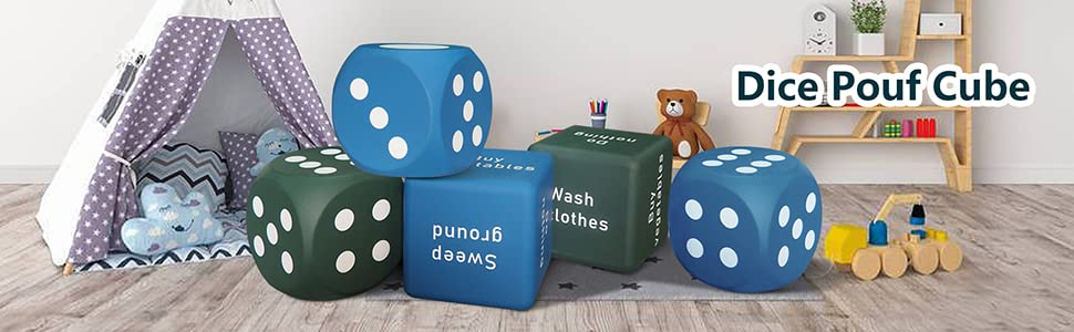 Dice Pouf Cube