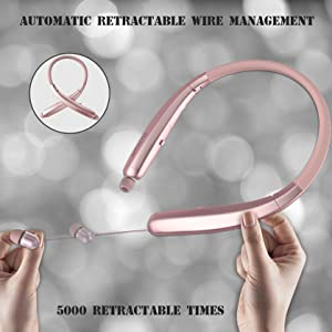 retractable bluetooth headphones