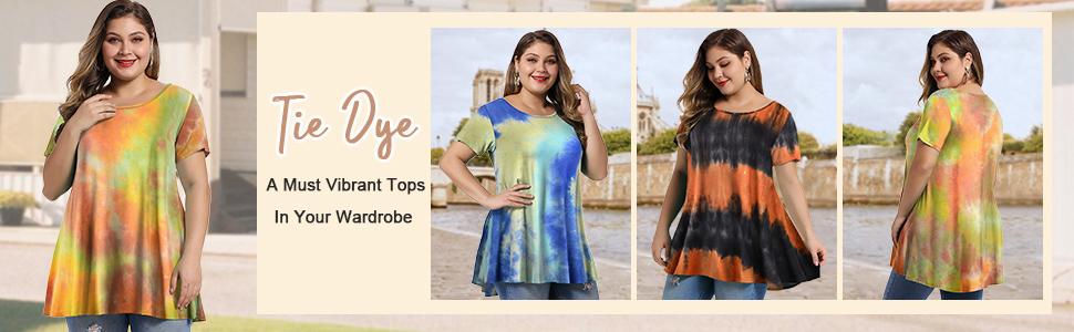 0005 Vibrant Tie Dye Shirts