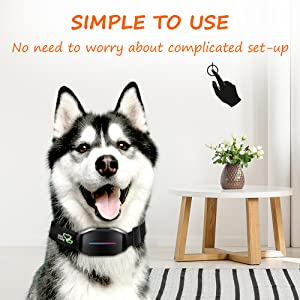 bark collar large dog automatic bark collar dog whining collar vibrating bark collar
