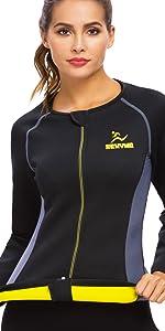 sauna pak voor vrouwen zweet pakken voor gewichtsverlies voor vrouwen thermisch pak zweet tops voor vrouwen shirt