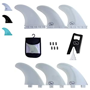 Channel Islands Surfboards Fiberglass Reinforced Polymer Fin Set With 3 Fins Futures Base Frp