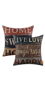 LINKWELL Set of 2 Quote Pillow Cover