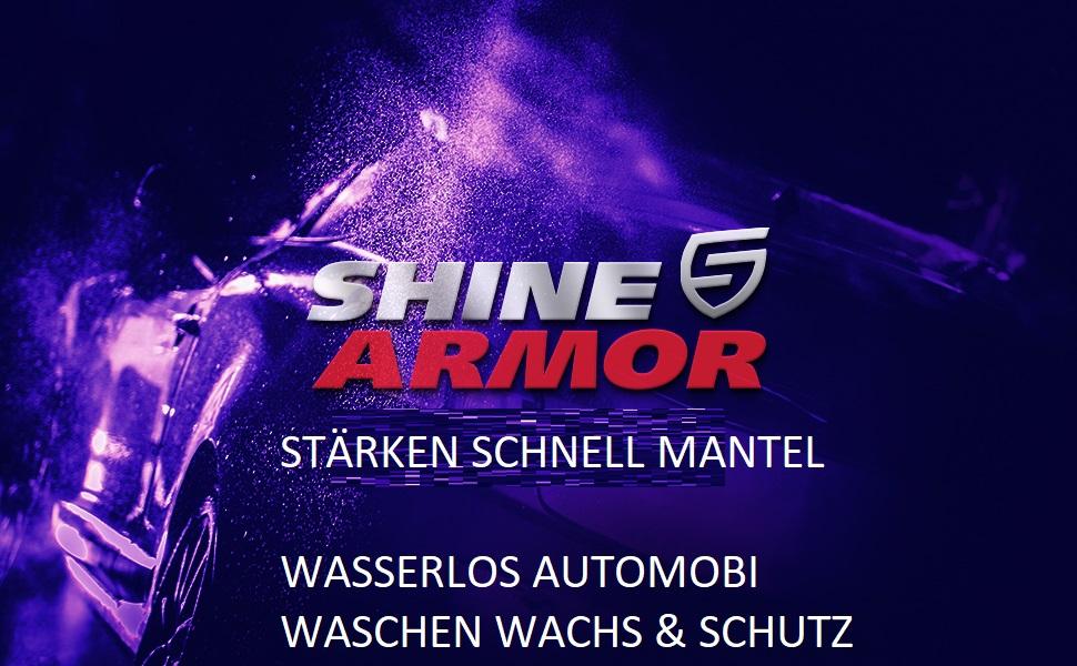 Shine Armor Fortify Quick Coat Pkw Wachsspray Politur Auto 3 In 1 Wasserabweisender Auto Reiniger Auto Politur Und Glanz Polymer Lackschutz Keramikversiegelung Auto 8oz Auto