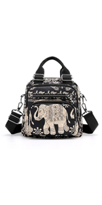 elephant crossbody bag