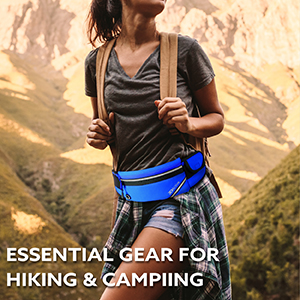 Essential gear for hiking and camping.