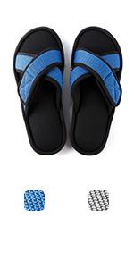 ULTRAIDEAS Men's Adjustable wrap Cross Band Slide Slippers