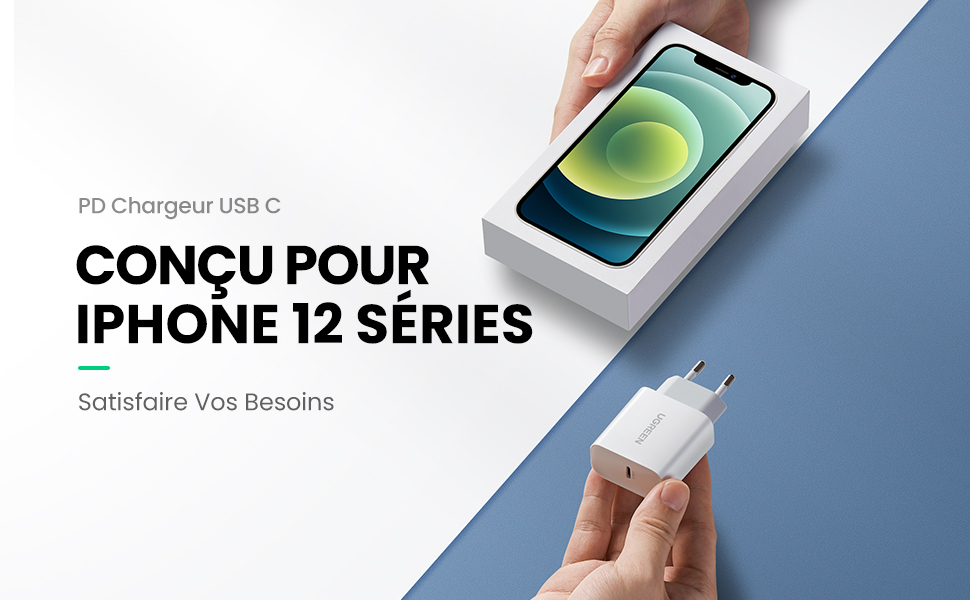 chargeur usb c 20w
