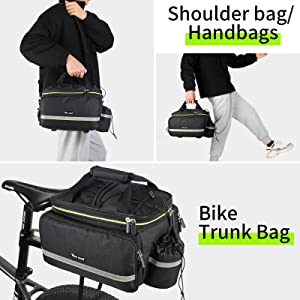 Reflective Spots - Bike Rack Carrier Saddle Bag Bicycle Accessories Commuter Outdoor Traveling