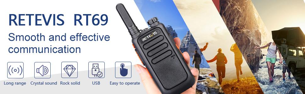 retevis outdoor walkie talkies with neck lanyard