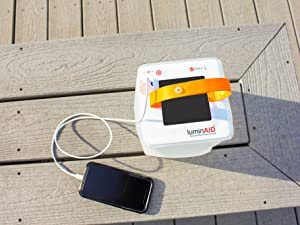solar-powered lantern and phone charger