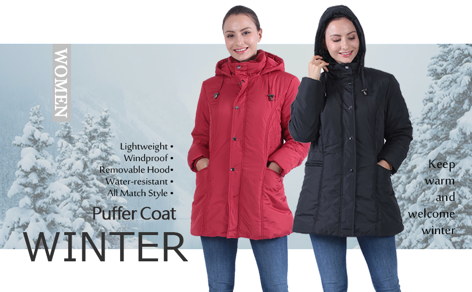 down coat for women puffer coat women's short down coat Anorak Parka Padded Coat