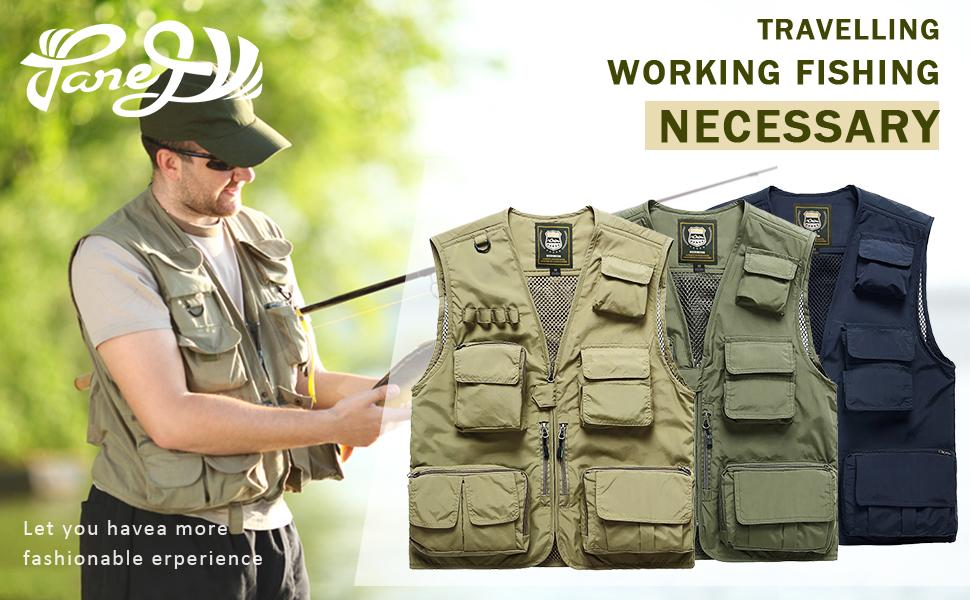 Men Cargo Vest