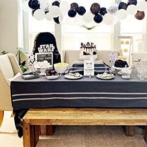 french table linens gray
