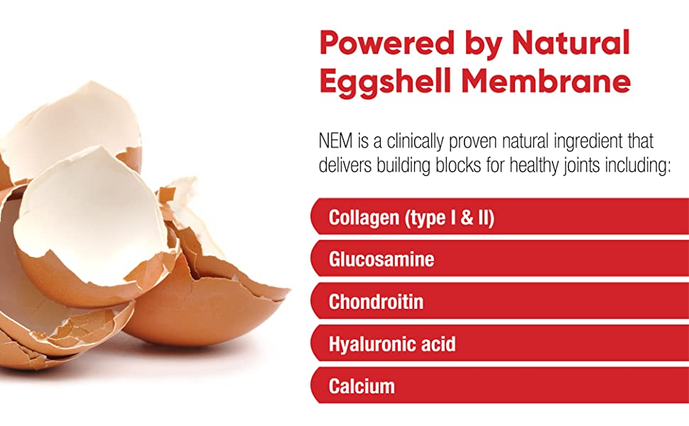 Powered by Natural Eggshell Membrane