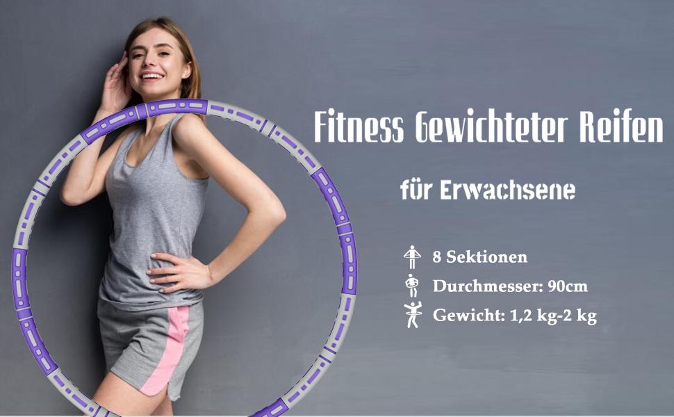 Fitness Erwachsene Reifen Hoop, Verbesserter Reifen Hoop Edelstahlkern mit Dicker Premium Schaumstof