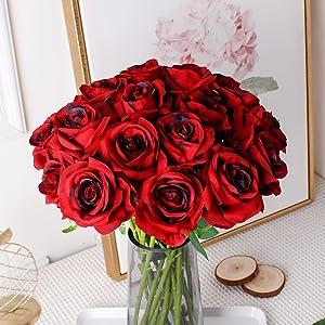 Burgundy Artificial Roses