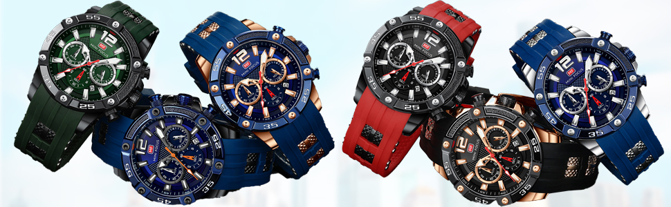 analog chronograph watch relogio masculino men's wrist watches