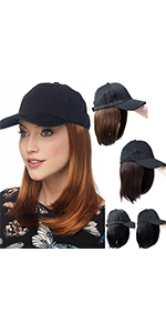 Baseball Cap With Hair Extensions