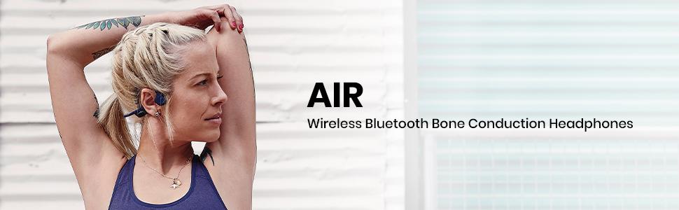 AfterShokz Air wireless, open-ear, bone conduction headphones