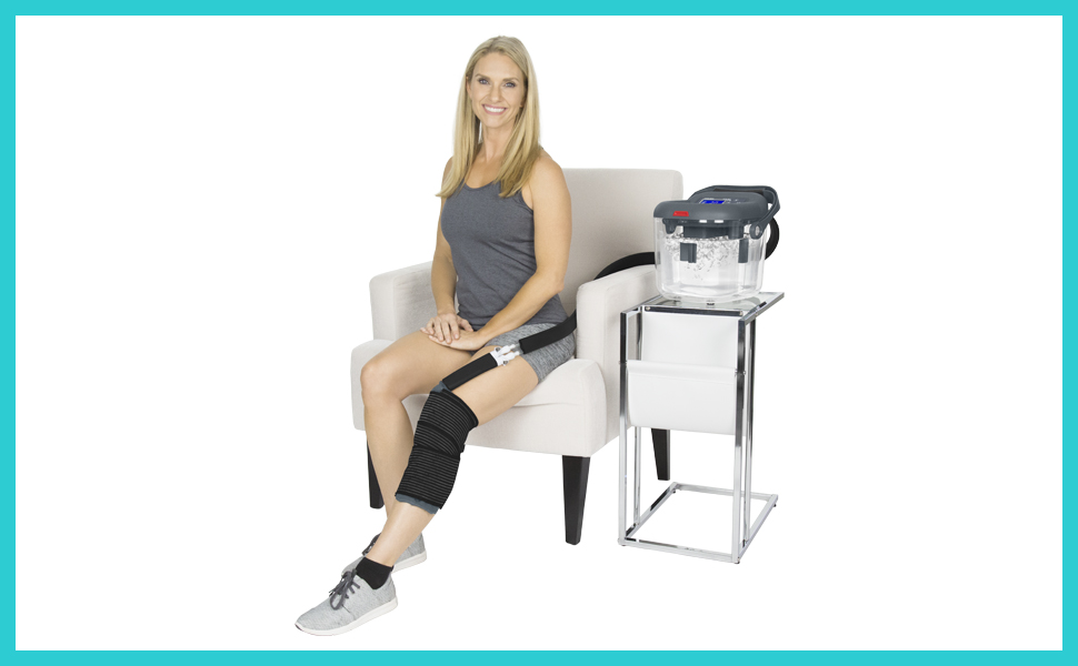 Vive Cold Therapy Machine - Large Ice Cryo Cuff - Flexible Cryotherapy  Freeze Kit System Fits Knee, Shoulder, Ankle, Cervical, Back, Leg, Hip and  ACL