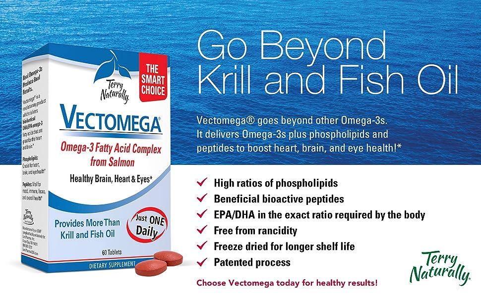 vectomega, healthy brain, heart, eyes, krill, fish oil, omega-3, fatty acid complex, phospholipids