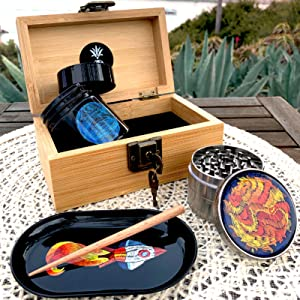 stash box herb grinder accessories container jar grinders airtight containers combo lock jars boxes