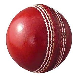 AnNafi Leather White Cricket Ball A Grade Handstitched White