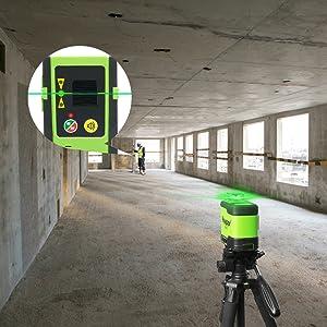 Mode d'impulsion d'économie d'énergie en extérieur: ¡ñAprès la mise sous tension, appuyez brièvement sur le bouton du mode d'impulsion pour activer / désactiver le mode d'impulsion. ¡ñLe mode impulsion étend la plage de travail jusqu'à 60 m dans des conditions de travail plus lumineuses lors de l'utilisation avec le détecteur laser Huepar Line (ASIN: B07GVC2XD9). ¡ñLorsque le mode impulsion est activé, les faisceaux laser sont plus faibles, la pression sur les yeux est moindre lorsque vous travaillez à courte distance et le temps de travail peut être prolongé de manière appropriée