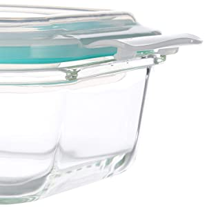 Vallo glass food storage containers airtight leakproof snap lock lids meal prep tupperware oven safe