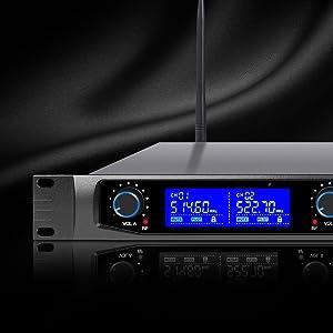 NESO-F4 Series Professional UHF Rack Mountable Wireless Microphone System, Rack Mountable