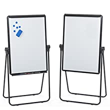 Double sided presentation dry erase easel