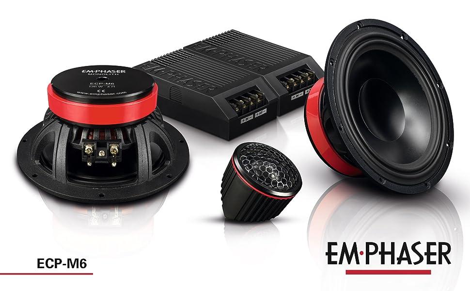 Emphaser ECP-M6: 16,5 cm 2-Wege Lautsprecher / Komponentensystem fürs Auto