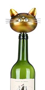 Tooarts Cat Stopper Iron Wine Bottle Stopper