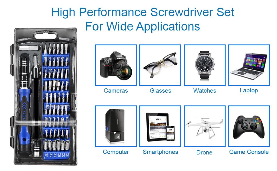 80 in 1 toolkit, smartphone repair, tablet repair, high quality, strong tools, good grip