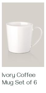 18 oz white coffee mug