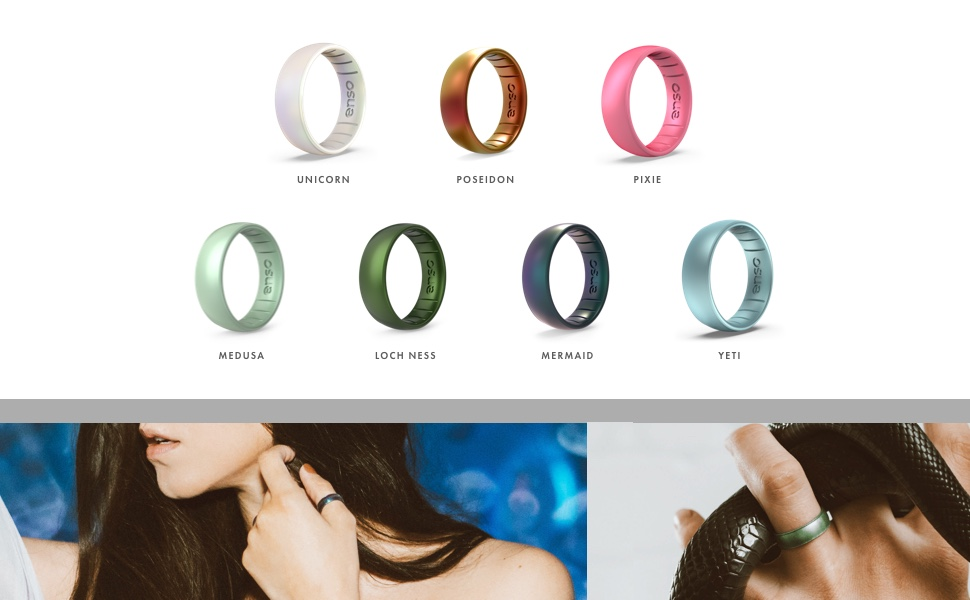 Enso Rings Thin Legend Silicone Ring an Ultra Comfortable and Safe Silicone Ring Lifetime Quality Guarantee Breathable Made in The USA