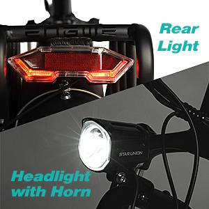 Rear light & Headlight with Horn