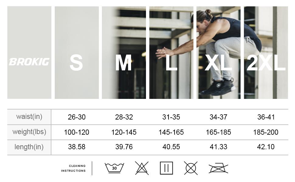 BROKIG Mens Thigh Mesh Gym Jogger Pants, Slim Fit Workout Bodybuilding Sweatpants with Zipper Pocket