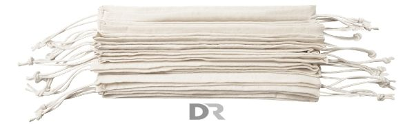 DR craftsmanship cotton drawstring bags in many sizes