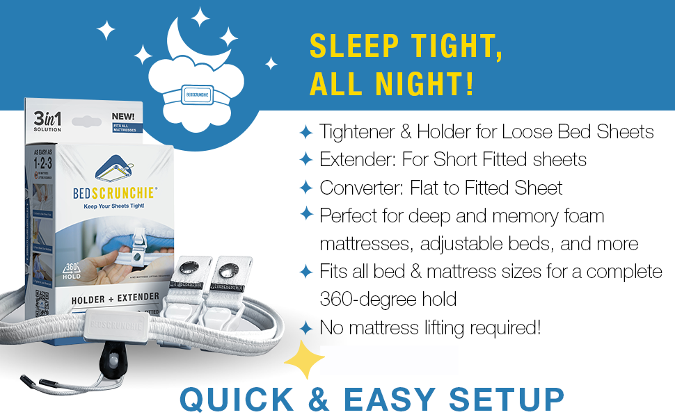 sleep tight night single king bunk mattress tightener hold fitted sheets