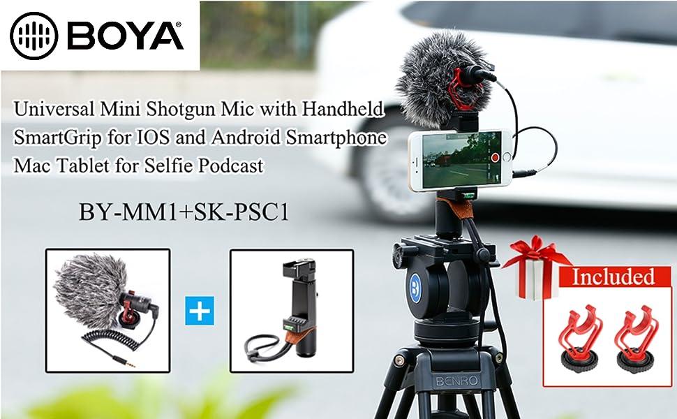 Amazon Com Boya By Mm1 Cardioid Shotgun Microphone With Sk Psc1