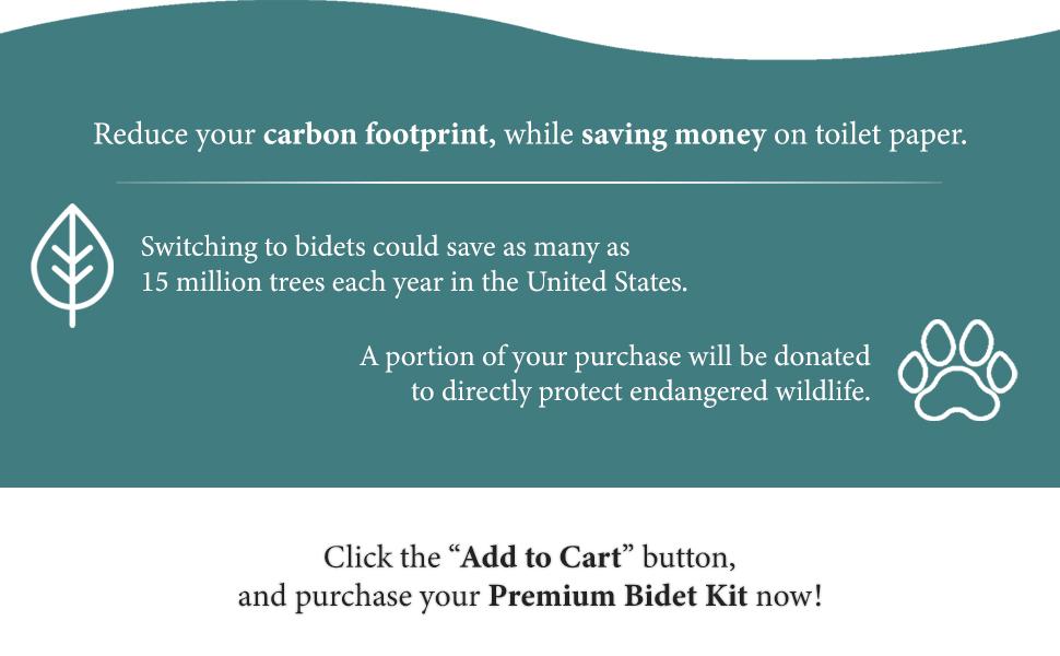 save money toilet paper tp bidet premium kit bathroom
