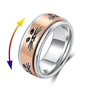 cat spinner ring rose gold
