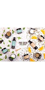 pure green coffee skincare mint orange