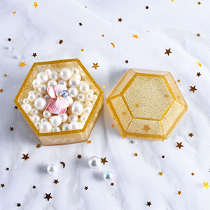 Box Resin Molds Jewelry Box Molds Hexagon Silicone Resin Mold Storage Box Mold Epoxy Molds Making