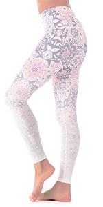 Datura flower yoga pants leggings