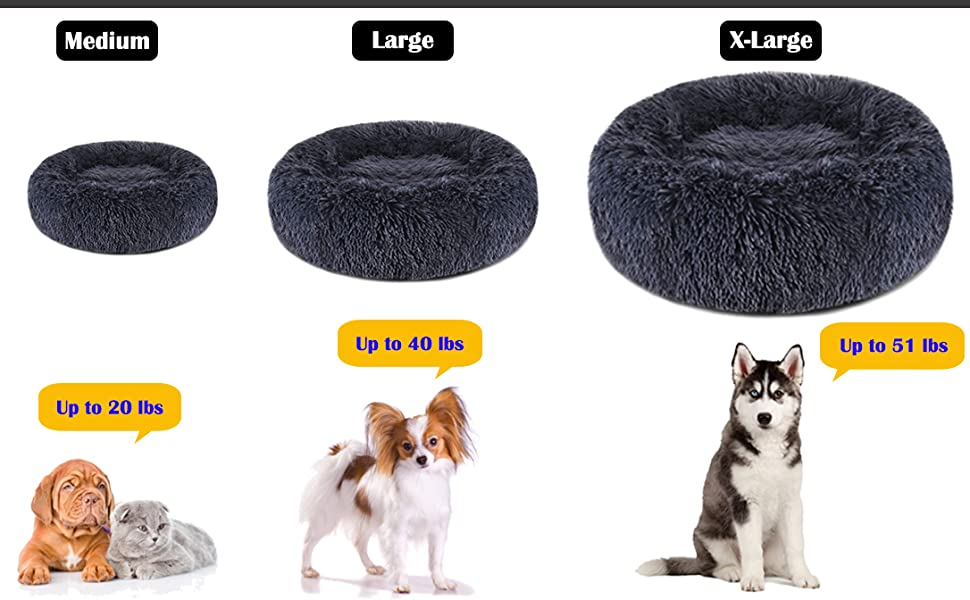 plush donut dog cat bed