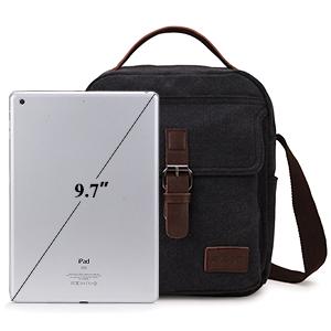 Menran Outdoor Casual Messenger Bag Gro/ß Schultertasche Herren Aktentasche Leinwand Umh/ängetasche Mode Sport Tragetaschen Braun